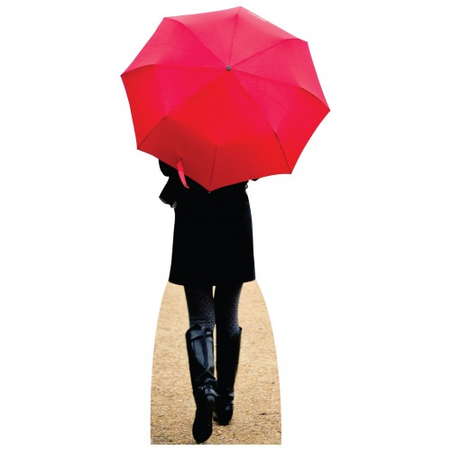 Paris Red Umbrella Cardboard Cutout