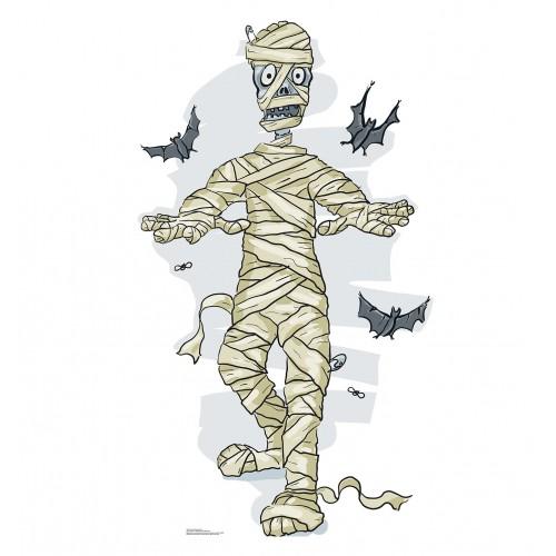 Cartoon Mummy  and  Bats Cardboard Cutout