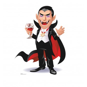 Cartoon Dracula Cardboard Cutout