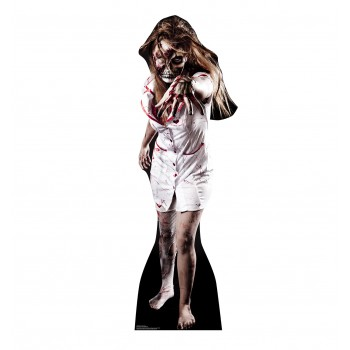 Skeleton Zombie Nurse Cardboard Cutout