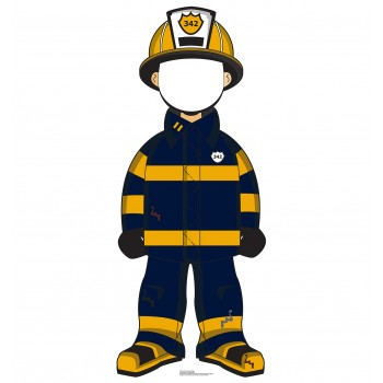 Cartoon Fireman Standin Cardboard Cutout