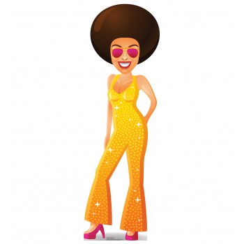 Cartoon Disco Dancer Cardboard Cutout