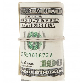Roll of $100 Bills Cardboard Cutout - $39.95