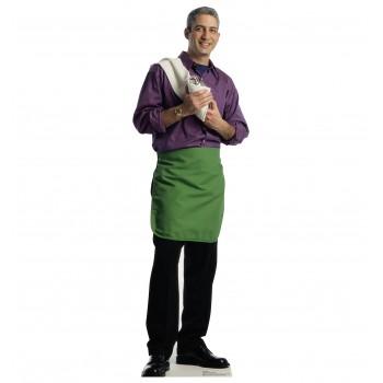 Green Apron Bartender Cardboard Cutout - $39.95