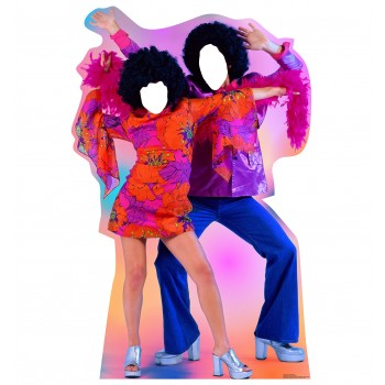 70's Dance Couple Standin Cardboard Cutout