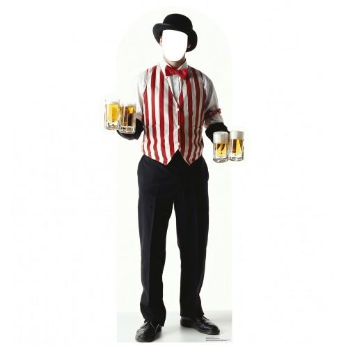 Carnival Bartender Standin Cardboard Cutout