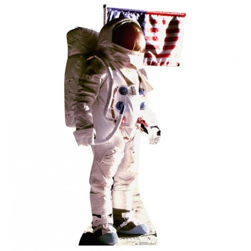 Astronaut Man on the Moon Cardboard Cutout