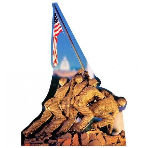 Marine Corps War Memorial Cardboard Cutout