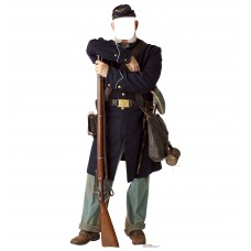 Union Civil War Soldier Standin