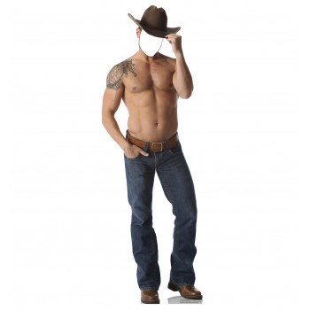 Shirtless Cowboy Standin Cardboard Cutout - $39.95