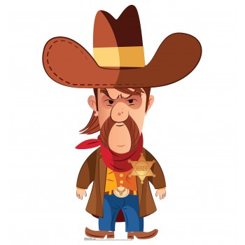 Cartoon Sherif Cardboard Cutout