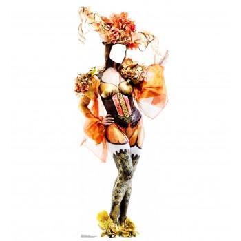 Mardi Gras Showgirl Standin Cardboard Cutout - $39.95