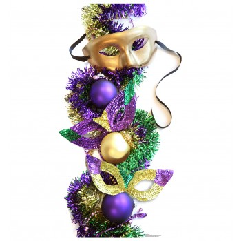 Mardi Gras Party Masks Cardboard Cutout - $39.95