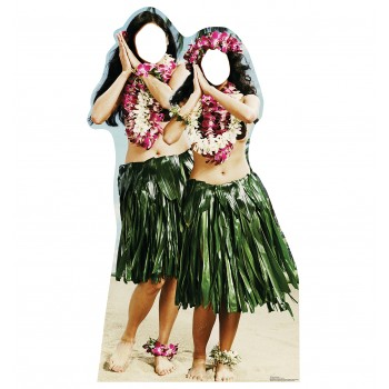 Hawaiian Hula Girls Standin Cardboard Cutout - $39.95