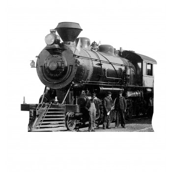 Antique Steam Engine Cardboard Cutout - $39.95