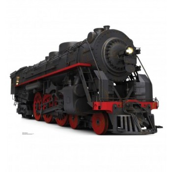 Black and Red Steam Train Cardboard Cutout