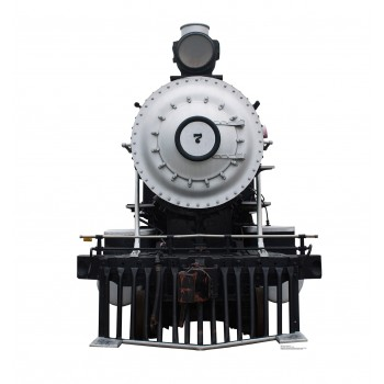 Steam Locomotive #7 Cardboard Cutout - $39.95