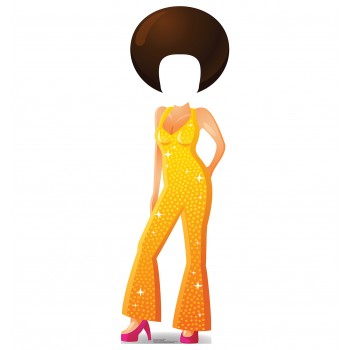 Cartoon Disco Dancer Standin Cardboard Cutout