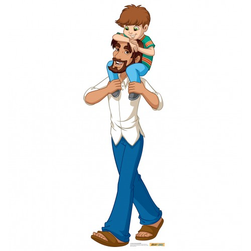 Jesus in Jeans with Child (Creative for Kids) Cardboard Cutout