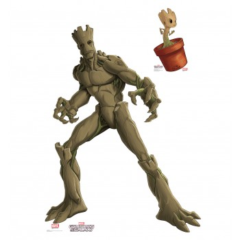Groot  and  Little Groot (Animated Guardians of the Galaxy) Cardboard Cutout