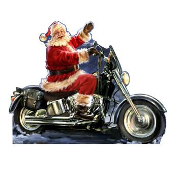 Santa Motorcycle (Dona Gelsinger Art) Cardboard Cutout - $39.95