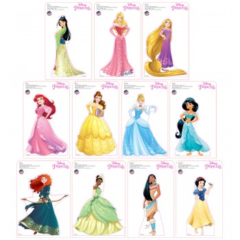 Mini Disney Princesses Standees 2016 (11 pack) Cardboard Cutout - $39.95