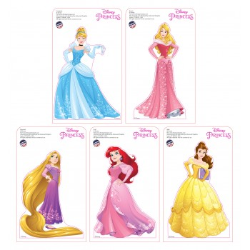 Mini Disney Princesses Standees 2016 (5 pack) Cardboard Cutout