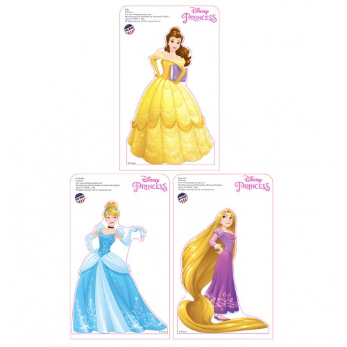 Mini Disney Princesses Standees 2016 (3 pack) Cardboard Cutout