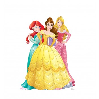 Princesses Group - Ariel, Belle and Aurora (Disney Princess Friendship Adventures) Cardboard Cutout