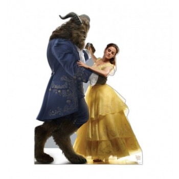 Belle and Beast (Disney Beauty and the Beast Live Action) Cardboard Cutout