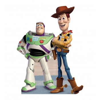 Buzz and Woody A Toy Story Cardboard Cutout