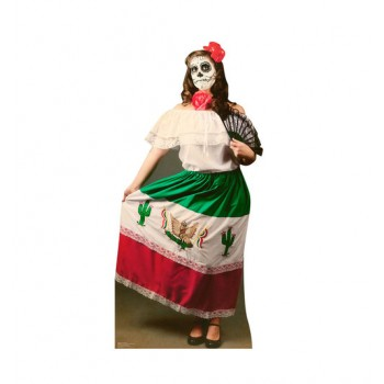 Day of The Dead Woman Cardboard Cutout - $39.95