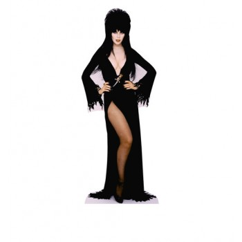Elvira Hands on Hips Mini Cardboard Cutout