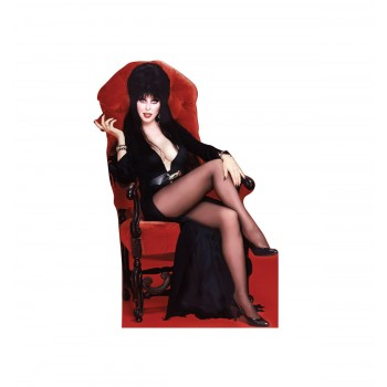 Elvira Red Chair Mini Cardboard Cutout - $4.99