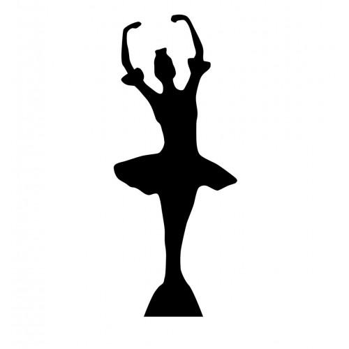 Ballerina Silhouette Cardboard Cutout
