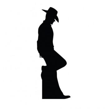 Cowboy Leaning Silhouette Cardboard Cutout - $39.95