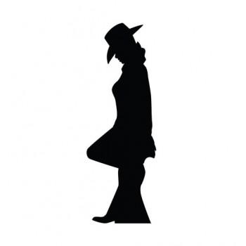 Cowgirl Silhouette Cardboard Cutout - $39.95