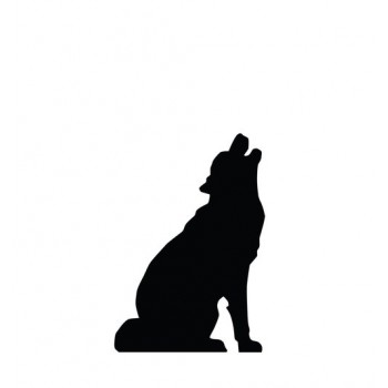 Howling Wolf Silhouette Cardboard Cutout - $39.95
