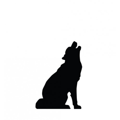 Howling Wolf Silhouette Cardboard Cutout
