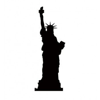 Statue Of Liberty Silhouette Cardboard Cutout - $39.95