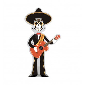 Day of The Dead Guitar Player Cardboard Cutout - $39.95