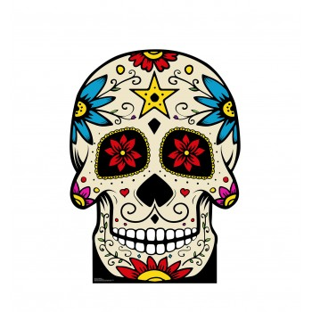 Day of The Dead Skull Cardboard Cutout - $39.95