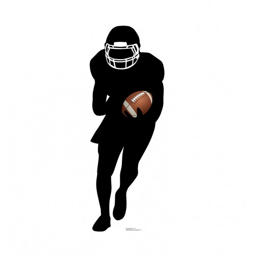 Football Player Runningback Silhouette Cardboard Cutout