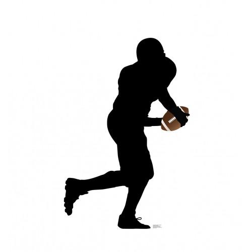 Football Player Running Silhouette Cardboard Cutout