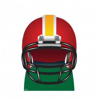 Football Helmet Cardboard Cutout