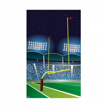Football Goal Post Cardboard Cutout