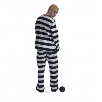 Prisoner in striped suit with Ball and Chain Cardboard Cutout - $39.95