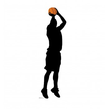 Baskeball Player Shooting Silhouette Cardboard Cutout