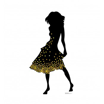 Silhouette Dancer Yellow Sparkles Cardboard Cutout - $39.95