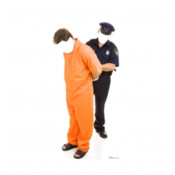 Inmate and Police Officer Standin Cardboard Cutout - $39.95